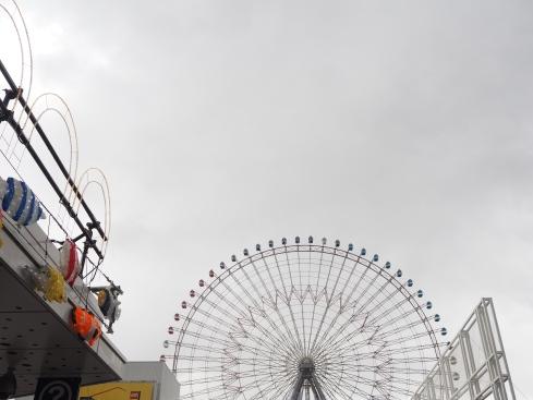 Tempozan Ferris Wheel view from opposite Kaiyukan