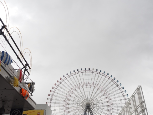 Tempozan Ferris Wheel view from opposite Kaiyukan